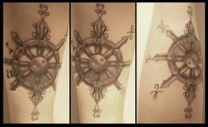 Three Panel Tattoo: Unfinished by Paranormallity