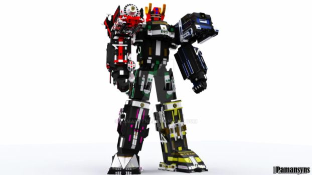 Megazord super train 3D by Pamansyns