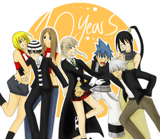 Happy 10th Anniversary Soul Eater - June 24, 2013 by KeksFanxXx