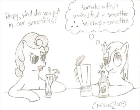 Day 4 - A Pony Eating Fruit by Chessie2003