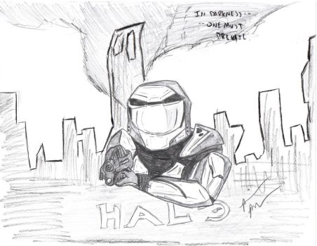 Master Chief-- Halo Combat Evolved by RetroRoiger