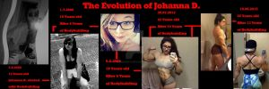 The Evolution of Johanna D. Before After by DarkSoniti