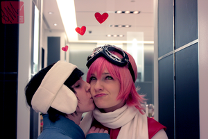 FLCL kiss by amymessere