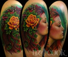 Nature Girl Portrait by LizCookTattoo