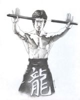 Bruce Lee Nunchuk by Bannercourt