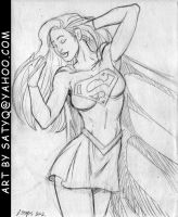 Supergirl stroking hair by SatyQ
