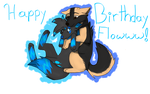 It's Flowww's Birthday everyone! :D by wolfleader16