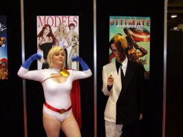 PowerGirl and TwoFace by PinkCarbon