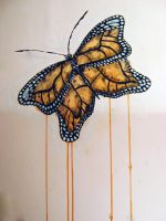 Butterfly on the wall by faerie191
