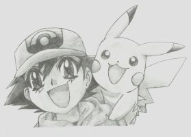 ash and pikachu by MOErus-Power-x3
