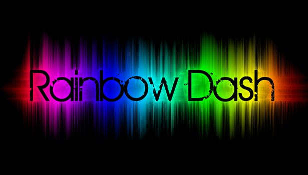Rainbow Text wallpaper by demondave999
