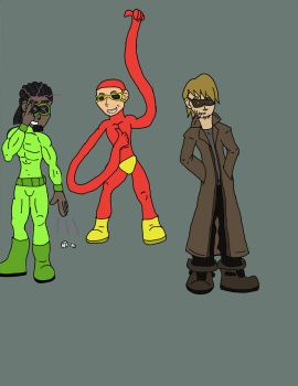 characters from a heroes game i'm in. by TJ123123