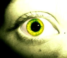 Lime Eye by underneath-the-paint