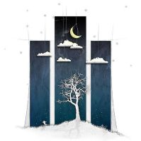 Paper Moon on a Cardboard Sky. by dianath
