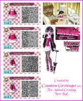 Draculaura Outfit for Animal Crossing by Countess-Grotesque