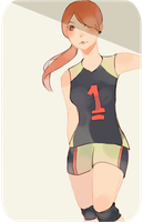 volleyball girl by rooo-oot