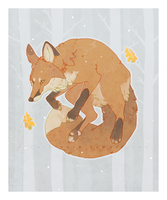 Autumn Fox by poppyng