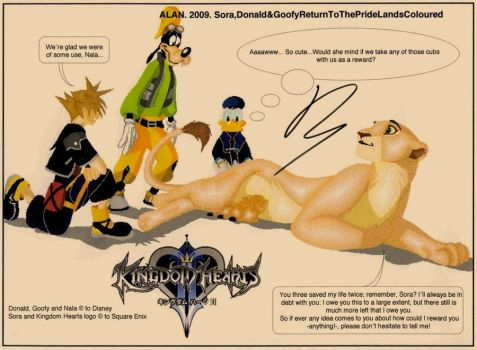 Sora, Donald and Goofy return by Alan-the-leopard
