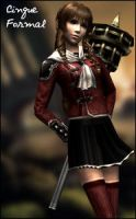 FF Type-0 - Cinque Formal Outfit by raidergale