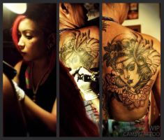 WIP Woman Tattoo by camsy