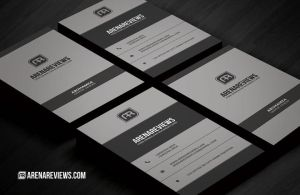 Corporate Business Card Template by ArenaReviews