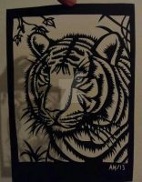 tiger Paper-cut by Dark-Unicor