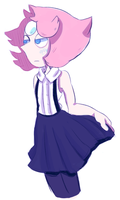 Pearl In Skirt by Piierogi