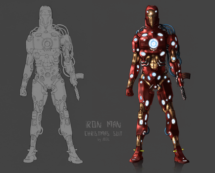 IRON MAN: christmas suit by JoelAmatGuell