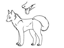 MS Paint Friendly Wolf Lineart by Sinxo