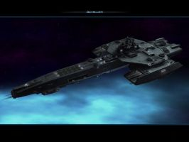 space ship stargate achilles by qwerty30