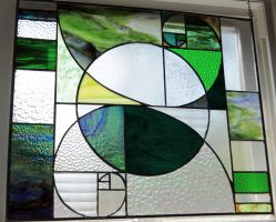 Golden Spiral Stained Glass by joemakesglass