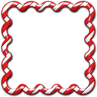 Candy Cane Frame 01 by clipartcotttage