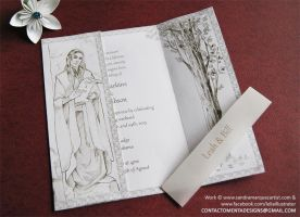The Lord of the Rings invitation (Opened) by MentaDesigns
