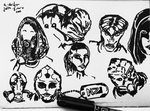 Mass Effect Character Sketch Dump Pt. 1 by JuliaToffy