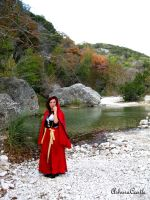 Red Riding Hood at the River by AshuraCastle