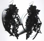 Retro Gothic Earrings by Pinkabsinthe