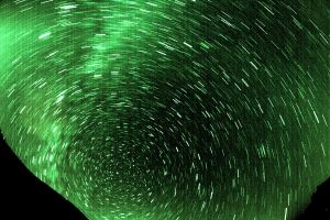 The Night sky in motion by EisenFeuer