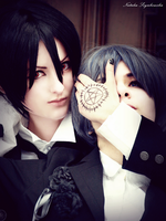 Sebastian Michaelis and Ciel Phantomhive by SolarisGallegos