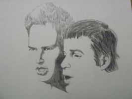 Paul Simon and Art Garfunkel by rgopal