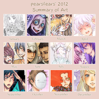 2012 Art Summary by pearsfears