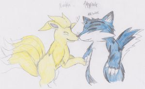Tygrrent and Ninetales by blastoise96