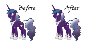 Prince Rigel's cutie mark differences by Dandric101