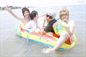 KHR : Vongola on Beach by Bluedknn