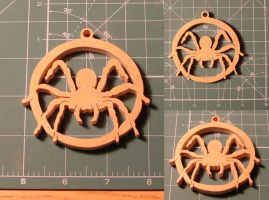 Scroll saw spider hanger by scuff13