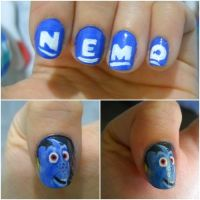 Finding Nemo nails by dgippi4