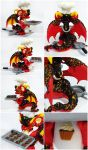 Volcanic dragon - cook - SOLD by CuteDragonsAndMore