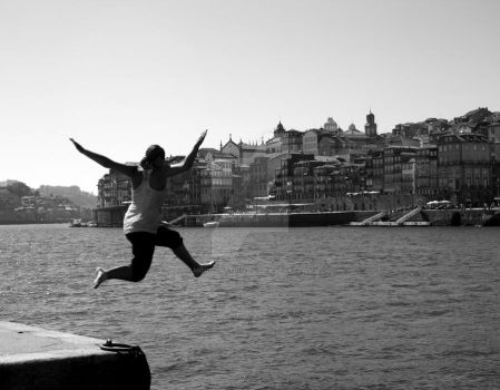 Jumping to Douro's River II by Moonswatcher