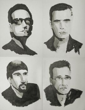 Black Ink - U2 by starvingartist