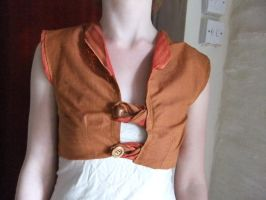 Burnt Orange Waistcoat by sewn-by-honeybirds