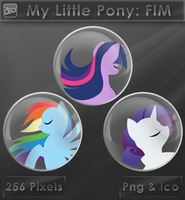 My Little Pony - TS. RD. Rarity [Glass Icons] by VoidSentinel